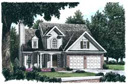 Country Style Home Design Plan: 85-638
