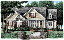 Cottage Style Home Design Plan: 85-652