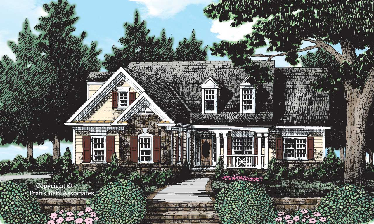 Cottage Style Home Design Plan: 85-684
