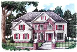 Georgian Style Floor Plans Plan: 85-691