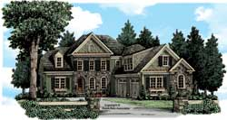 Traditional Style Home Design Plan: 85-693