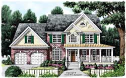 Country Style Floor Plans Plan: 85-695