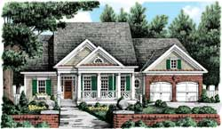 Traditional Style Home Design Plan: 85-696