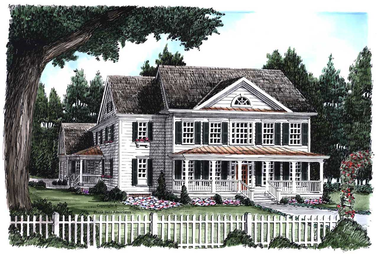 New-england-colonial Style House Plans Plan: 85-697