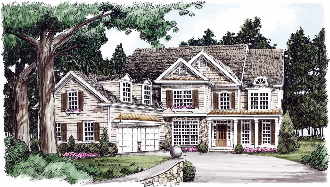 Country Style Floor Plans Plan: 85-703