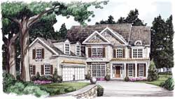 Country Style Home Design Plan: 85-703