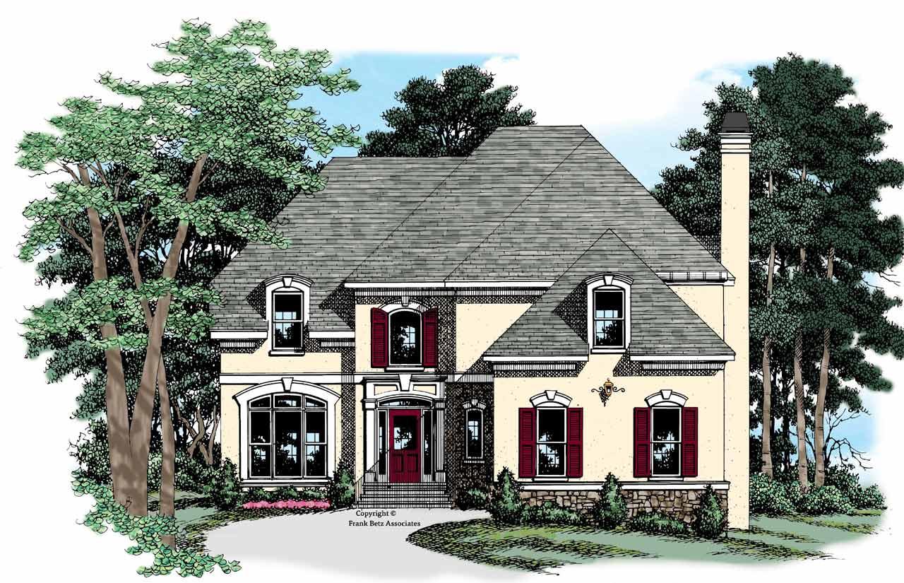 European Style Home Design Plan: 85-713