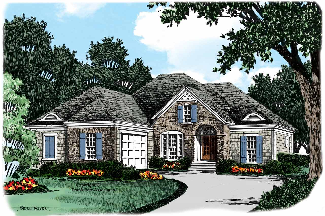 Cottage Style Home Design Plan: 85-722