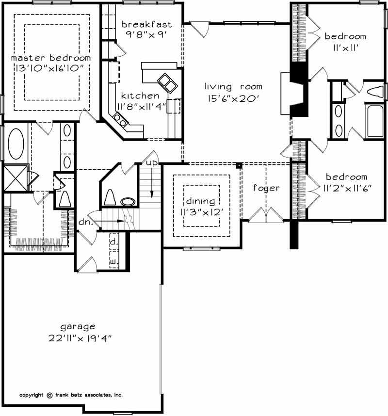 Main Floor Plan: 85-722