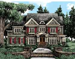 New-England-Colonial Style Floor Plans Plan: 85-723
