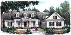 New-England-Colonial Style Home Design Plan: 85-729