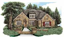 Traditional Style Home Design Plan: 85-737