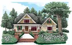 Craftsman Style Home Design Plan: 85-738