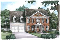 Colonial Style Floor Plans Plan: 85-746