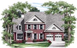 Early-American Style House Plans Plan: 85-747
