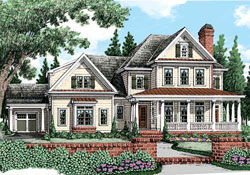 Southern Style Home Design Plan: 85-806