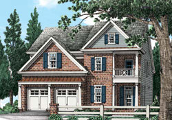 Southern Style Floor Plans Plan: 85-851