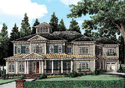 Southern Style Floor Plans Plan: 85-887