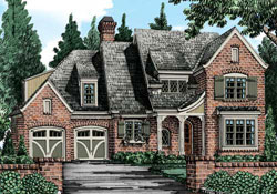 English-Country Style Floor Plans Plan: 85-940