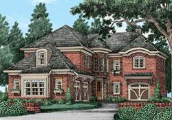 European Style House Plans Plan: 85-956