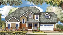 Craftsman Style Home Design Plan: 86-121