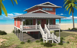 Coastal Style House Plans Plan: 86-175