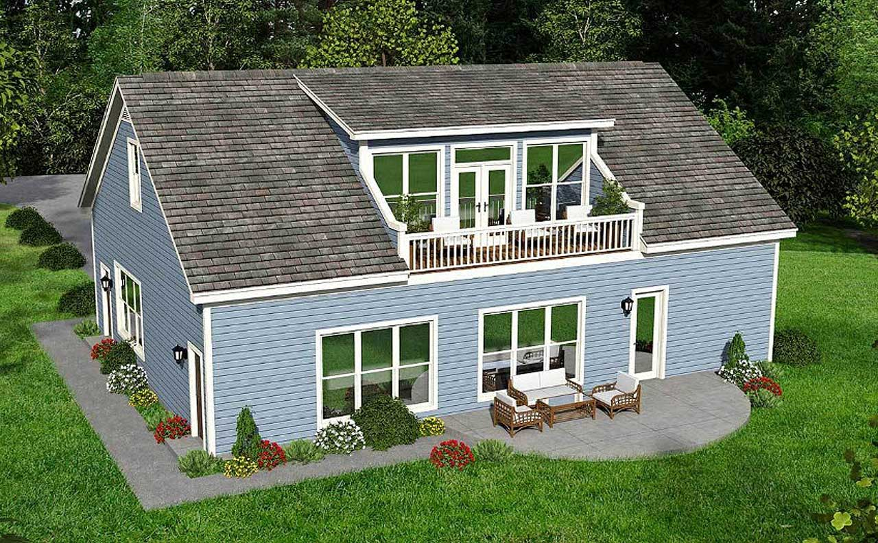 Country Style Floor Plans Plan: 87-107