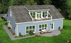 Country Style Home Design Plan: 87-107