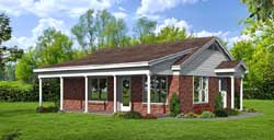 Country Style Home Design Plan: 87-118