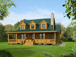 Farm Style Floor Plans Plan: 87-122