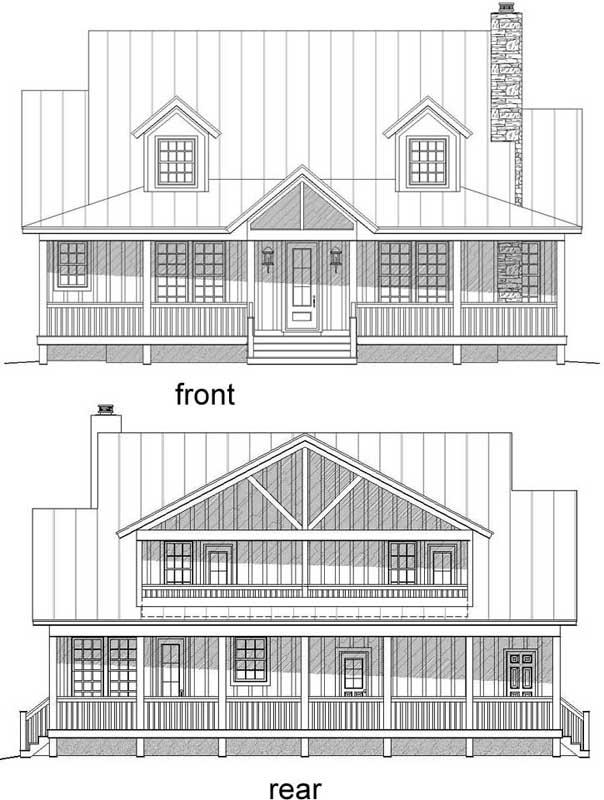 Rear Elevations Plan:87-123