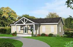 Contemporary Style House Plans Plan: 87-133