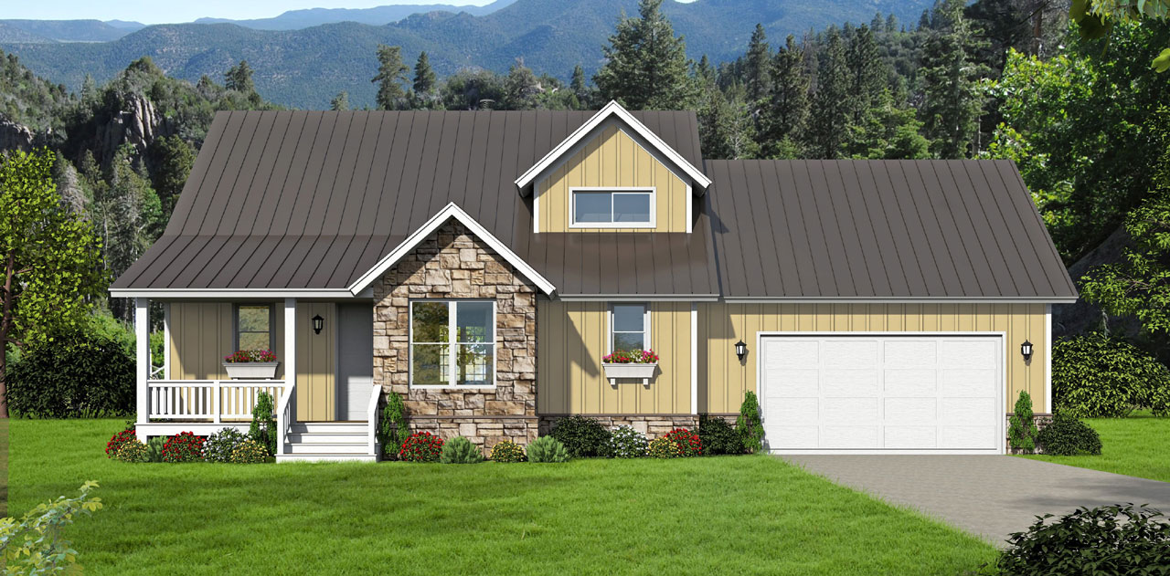 Country Style Floor Plans Plan: 87-135