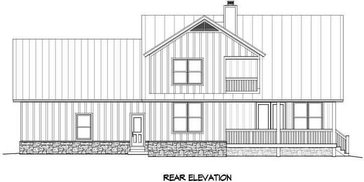 Rear Elevation Plan: 87-135