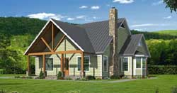 Mountain-or-Rustic Style Home Design Plan: 87-137