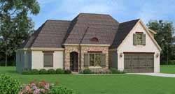 European Style Home Design Plan: 87-144