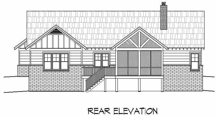 Rear Elevation Plan: 87-147