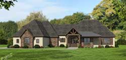 European Style Home Design Plan: 87-151