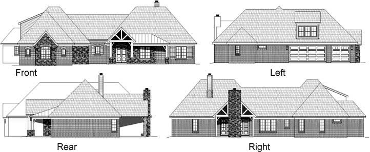 Rear Elevation Plan: 87-152
