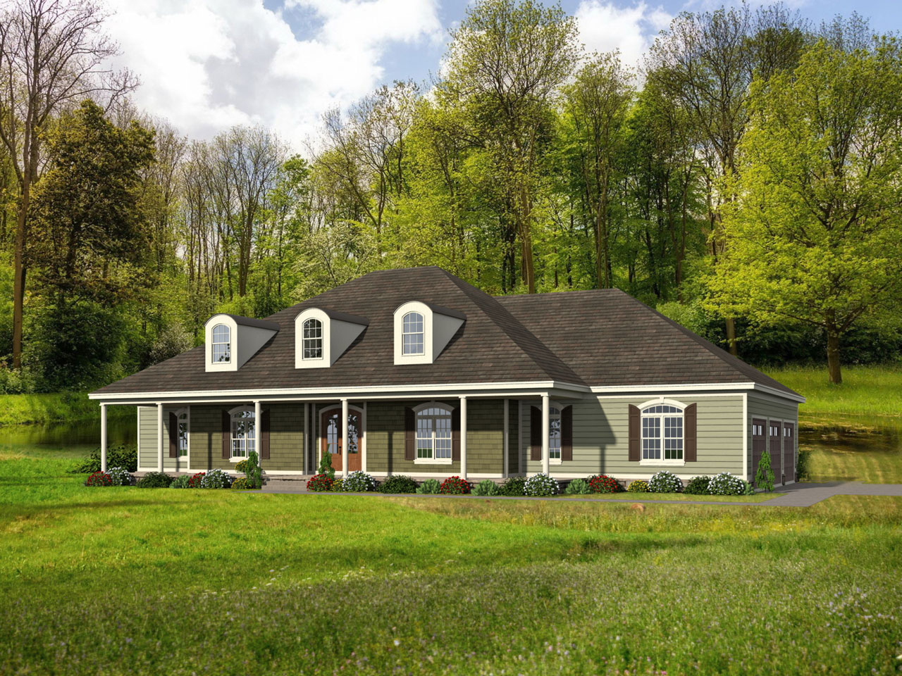 Southern Style Floor Plans Plan: 87-153