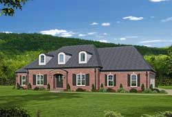 Southern Style Home Design Plan: 87-154