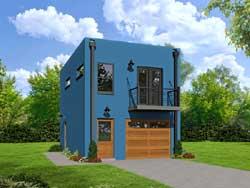 Modern Style House Plans Plan: 87-155