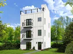 Modern Style House Plans Plan: 87-156