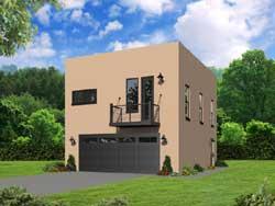 Modern Style House Plans Plan: 87-157