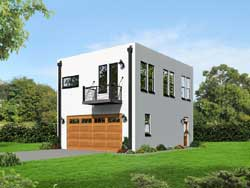 Modern Style Home Design Plan: 87-158