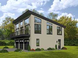 Contemporary Style House Plans Plan: 87-160