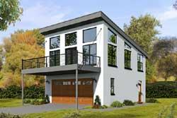 Contemporary Style Home Design Plan: 87-162