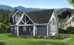 Traditional Style Home Design Plan: 87-171