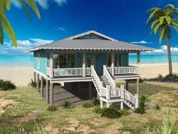 Coastal Style Home Design Plan: 87-184