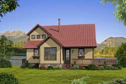 Country Style Floor Plans Plan: 87-194